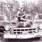 Paul Rawley & Donna Cawger-crusing in 1950 Cadillac - family car.