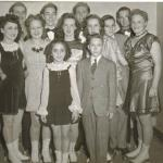 Paramus F & DC -Jan. 1946 Elemantary Dance 1st - Ackerman & Irwin 2nd - Gillen & Halenbeck 3rd - Denny & Dockray Florence Bonocore, Janes Shaw, Jean Ackerman, Charles Irwin, Patricia Gillen, George Halenbeck, Marilyn Denny, James Dockray, Abram Holdrum, Alma Price, Joyce Bonocore & Fred Backhus